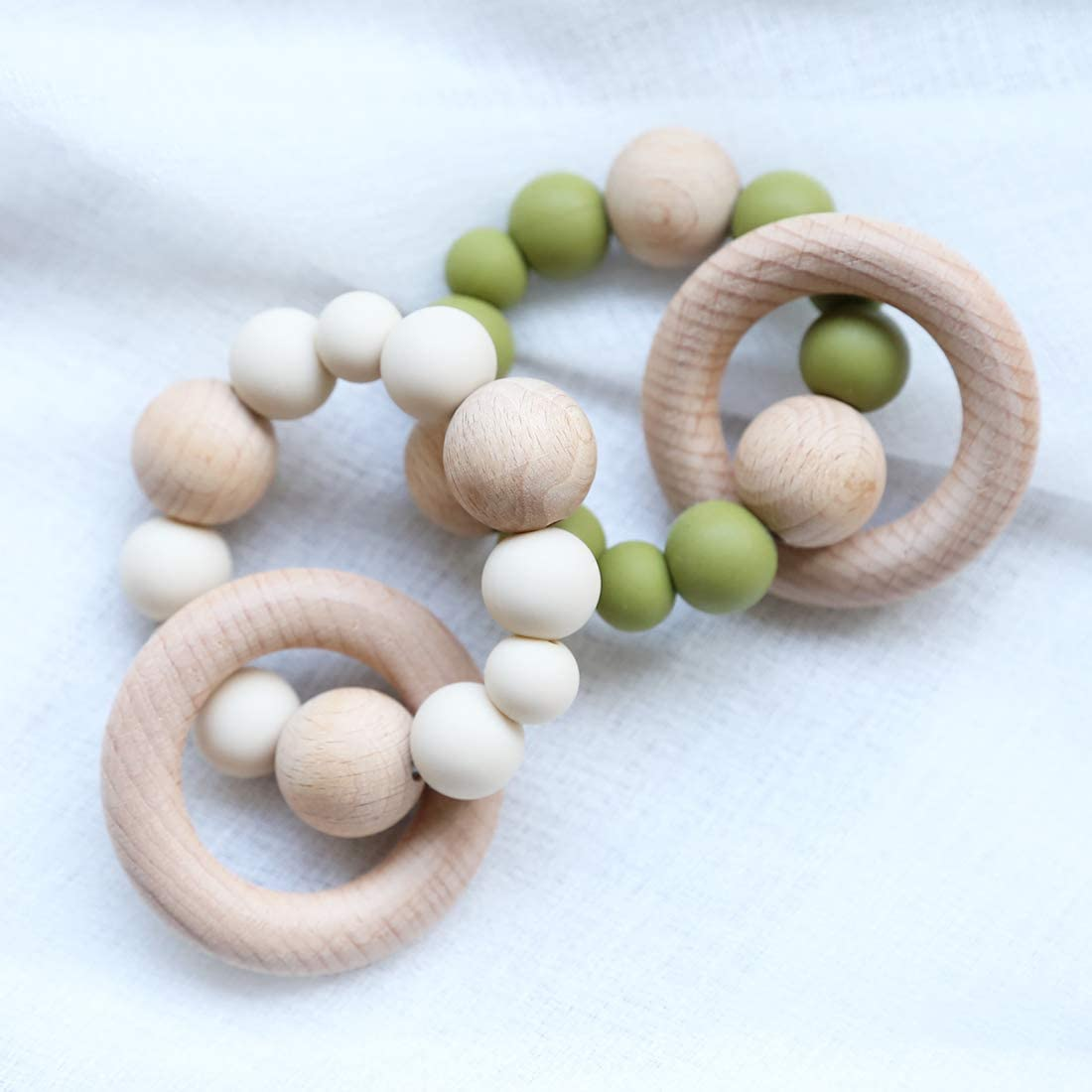 Infant Teething Wooden Rattles