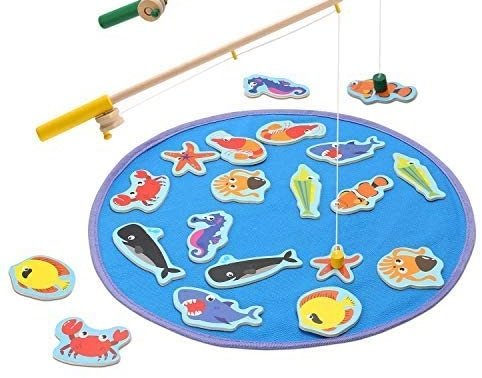 Magnetic Wooden Fishing Pole Game