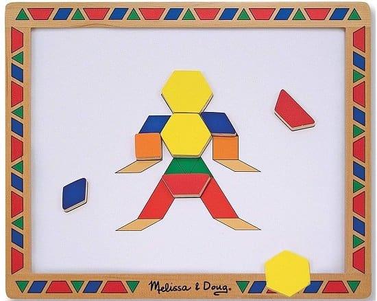 Melissa & Doug Magnetic Pattern Blocks Set