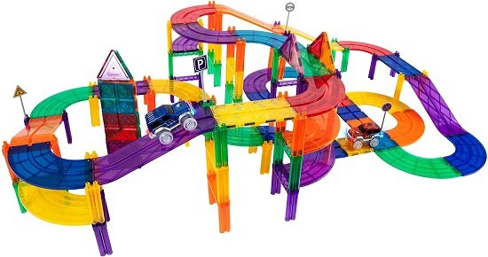 PicassoTiles Magnetic Race Car Track