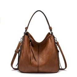 Realer Faux Leather Hobo Purse