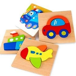 Wooden Vehicle Puzzles