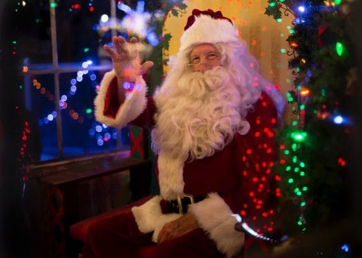 Zoom call with Santa