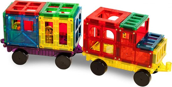 Magnetic Stick N Stack Train and Car Set