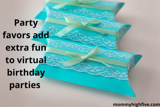 Virtual party favors