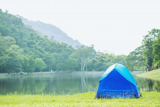 Camping with kids near water