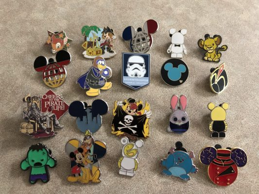 Disney pin trading during Covid