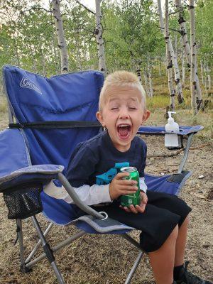 Fun camping with kids