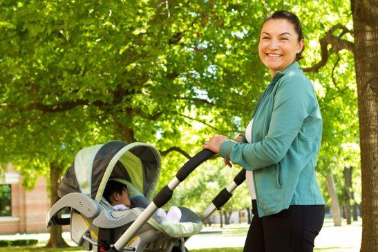 Walking after childbirth