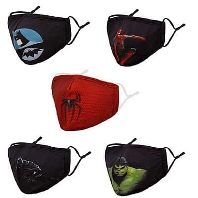 Superhero Face Mask Set