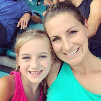 Andrea Dow and daughter