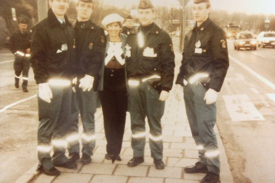 Candy Lightner at a sobriety checkpoint in Sweden